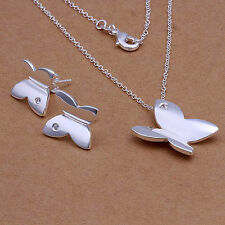 Childrens Girls Kids Jewelry Set Gift Necklace Earrings 925 Sterling Silver NEW