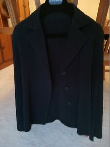 ISSEY MIYAKE main line black pleated jacket, 2, immaculate, auth, made in Japan