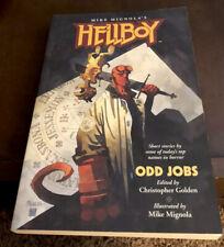HELLBOY: ODD JOBS By Mike Mignola 2004 SIGNED With ORIGINAL SKETCH Of HELLBOY!!
