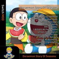 Doraemon Story Of Seasons (Switch Mod)-Max Money/Storages/Items/Friendship