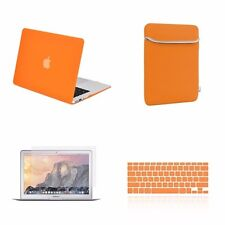 "4 IN 1 Macbook Air 13"" Orange Rubberized Hard Case + Keyboard Cover + LCD + Bag"