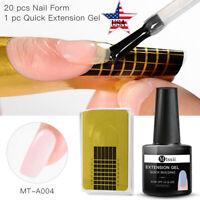 2Pcs/set MTSSII Poly Extension UV Gel Nail Polish For Manicure Varnish Form Tool