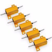 US Stock 5x 470 ohm 470R 10W Watt Aluminum Housed Metal Case Wirewound Resistors