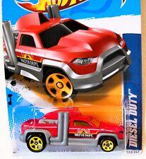 2012 Hot Wheels HW CITY WORKS #133 ∞ DIESEL DUTY ∞ RED HWC WATER DEPT. TRUCK