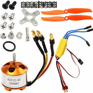 Brushless 2212-6 Electric Motor+30A ESC for RC Plane Helicopter 2200KV 342W HOT