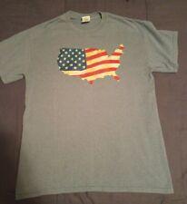Men's USA Flag Cotton Short Sleeve T-Shirt  Size MEDIUM