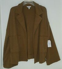 Women's Time and Tru Open Short Jacket Soft Pockets Brown Size XL (16-18) NWT