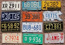 Set CANADA License Plates - 12 Provinces & Territories - Tags Lot - VINTAGE Set