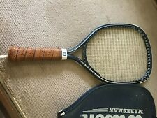 WILSON MARKSMAN RACKETBALL RACKET w/ Leather grip and case