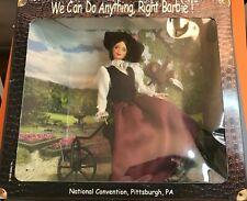 1999 National Barbie convention doll NRFB Nellie Bly Souvenir Doll w/ Bike