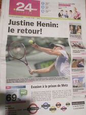 JUSTINE HENIN ANNONCE SON RETOUR A LA COMPETION : 23/09/2009 - POINT24.