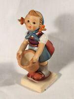 "Goebel Hummel TMK5 #73 ""Little Helper"" (Girl with Basket) 4.25"" Tall"