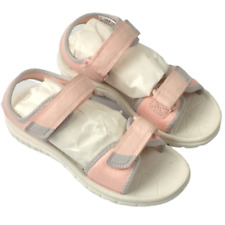 Clark's pink surfing tide size 10 1/2 medium hook and loop sandals girls/toddle