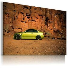 BMW M3 GOLD YELLOW Super Sport Car Large Wall Canvas Picture ART  AU350 X MATAGA