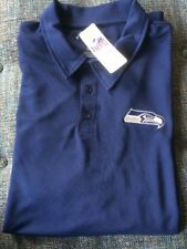 Nwt NFL Team Apparel TX3 Cool Polo Shirt Mens 3XL Seattle Seahawks Blue SS  S3 faecbd35c