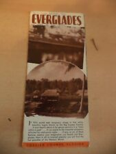 OLD VINTAGE MOTOR ROAD MAP USA FLORIDA EVERGLADES TOUR TOURING GUIDE 1950S ?