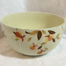 "Vintage Hall's 8"" Radiance Mixing Bowl Autumn Leaf Jewel Superior Kitchenware"