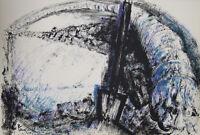Pierre PARSUS-Lithographie originale signée-Pauvre Martin G. BRASSENS