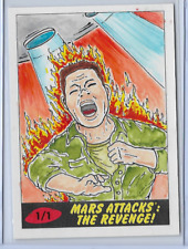 2017 TOPPS MARS ATTACKS THE REVENGE SKETCH CARD BY BARRY NYGMA 1/1