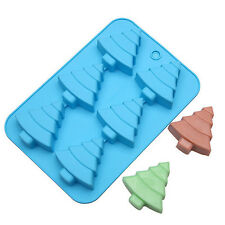 6-Cavity Silicone Chrismas Tree Cube Brownie, Corn Bread and Muffin Mold