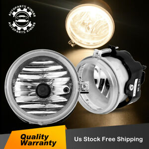 Fog Lights 12V 35W H8 Halogen Lamp Bulb Fit For 2005-2008 Chrysler Pacifica Town Country Front Left Right Bumper Driving Lamps Clear Lens