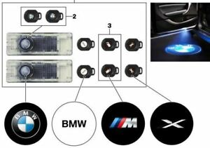 New Genuine BMW LED Door Projector Light Set With Logo Part 63312414105