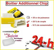 BOITIER ADDITIONNEL CHIP PUCE OBD2 TUNING ESSENCE PEUGEOT 206 1.4 1L4 75 CV