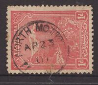 Tasmania NORTH MOTTON 1907 postmark on 1d pictorial rated S- (4) by Hardinge