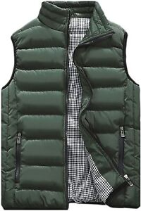 HOW'ON Men's Outdoor Casual Classic Quilted Vest