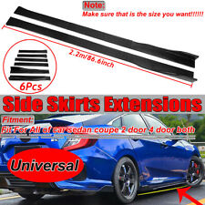 2x Universal 86.6'' Carbon Fiber Side Skirt Extension Rocker Panel Splitters Lip