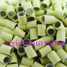 200 4mm Blonde Copper Silicone Tube Micro Ring for I Bonded Tip Hair Extensions