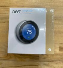 Nest Learning Thermostat 3rd Gen  - Stainless Smart Home T3007ES Silver New