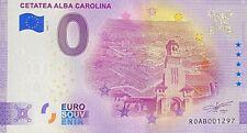 BILLET 0  EURO CETATEA ALBA CAROLINA ROUMANIE  2021 NUMERO DIVERS