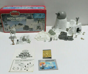 HOTH WORLD Star Wars Micro Collection Action Playset COMPLETE Kenner 1982