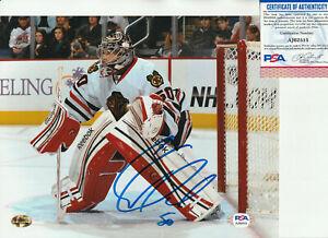 Corey Crawford Autographed 8 x 10 Hockey Photo PSA/DNA
