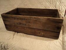 Vintage H.W. Lehman Hardware Co.(Dayton,Oh.)Wood Shipping Crate