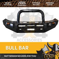 Bull Bar to suit Nissan Navara D40 Thailand Thai model Heavy Duty Steel Winch Co