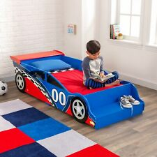 Race Car Toddler Bed Furniture Bedroom Wooden Frame Children Boys Kids NEW