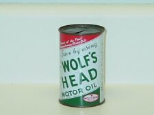 Vintage Motor Oil Can, Wolfe's Head Coin Bank