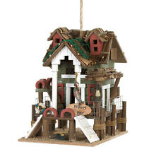 New listing Fishing Pier Wooden Birdhouse Rustic Yard Garden Ocean Lake Country Decor Gift