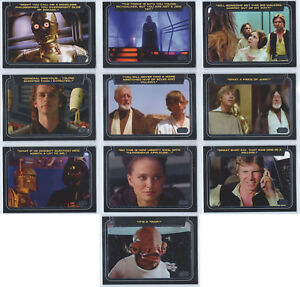 2013 Topps Star Wars Galactic Files Series 2 Classic Lines 1-10 Card Set