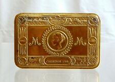 Genuine British WWI Princess Mary Christmas Tin Brass Tobacco Box Gift Fund 1914