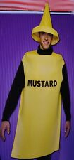 Adult Mens Womens Yellow Mustard Food Condiment Halloween Costume M Lg XL NEW