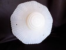 Vintage White Glass Lamp Shade Ceiling Light Cover for 3 Chain Fixture