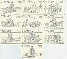 Canada 1982 - 50¢ Maple Leaf Booklets #BK82 (labels bottom row) - Set of 10