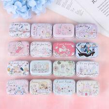 Owl mini tin box Sealed jar packing boxes jewelry candy box small storage UK
