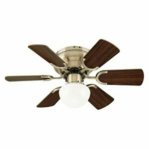 Westinghouse 7231700 Petite Indoor Ceiling Fan with Light,30 Inch, Antique Brass