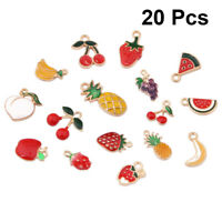 Enamel Alloy Jewelry Crafts Colorful Fruit Shaped Charms Pendants Findings 20pcs