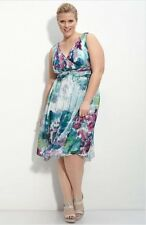 NEW Donna Morgan Sleeveless Silk Chiffon Dress (Plus) Size 18W $178