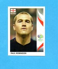 PANINI-GERMANY 2006-Figurina n.95- ROBINSON - INGHILTERRA -NEW BLACK